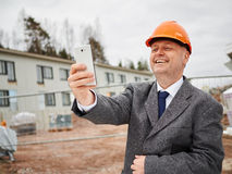Engineer and selfie Royalty Free Stock Photography