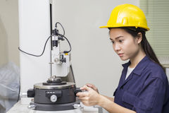 An engineer set up testing machine Royalty Free Stock Images