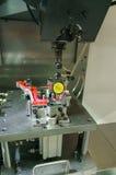 Engineer setup industrial metal machining cutting process of aut Stock Photos