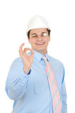 Engineer Showing Okay Symbol Stock Images