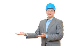 Engineer showing presentation Royalty Free Stock Images