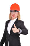 Engineer showing thumb up Stock Photography