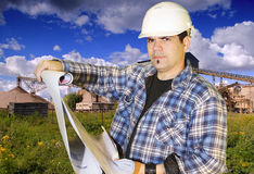 Engineer at the site Stock Image