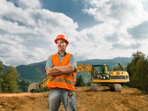 Engineer standing on construction site Stock Photos