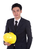 Engineer in suit with helmet Stock Photography