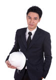 Engineer in suit with helmet Royalty Free Stock Photos