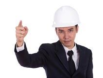Engineer in suit with helmet Stock Images