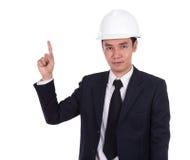Engineer in suit with helmet Royalty Free Stock Image