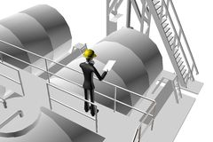 Engineer supervising industrial site Royalty Free Stock Images