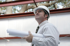Engineer Surveying Project Royalty Free Stock Images