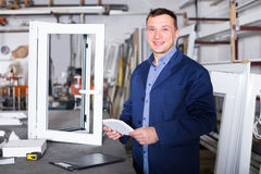 Engineer is taking order from customer Royalty Free Stock Photography
