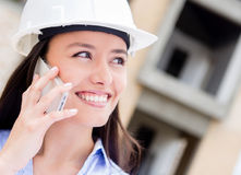 Engineer talking on the phone Stock Image