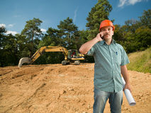Engineer talking on phone Royalty Free Stock Images