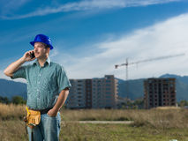 Engineer talking on the phone Stock Photography