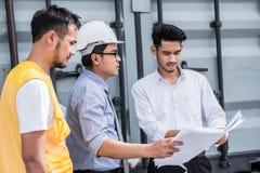 Engineer and teamwork Royalty Free Stock Photos