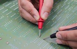 Engineer test electronic equipment Stock Photography