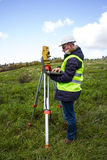 Engineer with theodolite Stock Photography