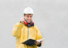 Engineer with thumb up Stock Image