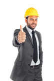 Engineer with thumb up Stock Images