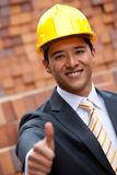 Engineer with thumbs-up Royalty Free Stock Photo