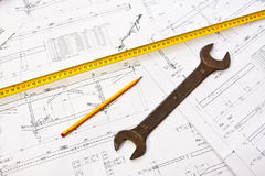 Engineer tools Stock Images