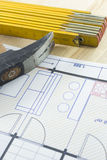 Engineer tools royalty free stock photos