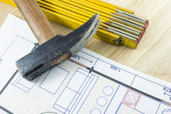 Engineer tools royalty free stock photo