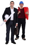 Engineer and tradesman Royalty Free Stock Image