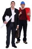 Engineer and tradesman Royalty Free Stock Image