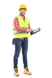 Engineer using a digital tablet Royalty Free Stock Images