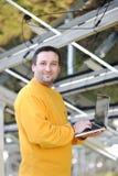 Engineer using laptop Stock Photos