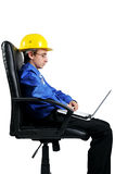Engineer using laptop Royalty Free Stock Photography