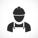 Engineer vector icon. Illustration on white background Royalty Free Stock Photography