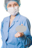 Engineer with wafer. Portrait of engineer with semiconductor wafer - focus on wafer Royalty Free Stock Images