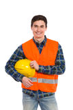 Engineer wearing reflective clothing. Stock Photo