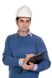 Engineer with white helmet Royalty Free Stock Photo