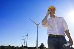 Engineer Windmills Stock Photography