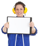 Engineer woman with clipbord Stock Photography