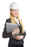 Engineer  Woman With Laptop Stock Photos
