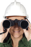 Engineer woman looking Stock Image