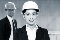 Engineer woman Stock Photo