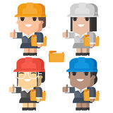 Engineer woman smiling and showing thumbs up Royalty Free Stock Photo