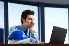 Engineer at work in his office Stock Photos