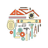 Engineer work tools Stock Images