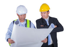 Engineer and worker Stock Image