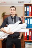 Engineer worker in office Royalty Free Stock Photography