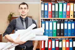 Engineer worker in office Stock Photography