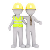 Engineer and worker together concept Royalty Free Stock Image