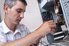 IT Engineer Working. Close-up Royalty Free Stock Photography
