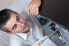 IT Engineer Working. Close-up Royalty Free Stock Image